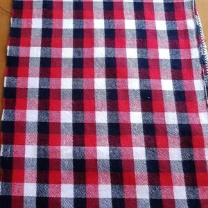 Flannel Plaid Fabric made of cotton, for flannel shirts, flannel dresses, flannel caps and hats, and flannel jackets.