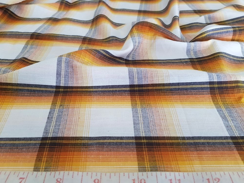 Madras Plaid Fabric for classic menswear, shirts, plaid bowties and ties, and classic children's clothing and southern clothing.