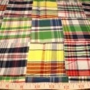 Remnant Fabric - Clearance fabric including madras plaid, patchwork madras and organic cotton