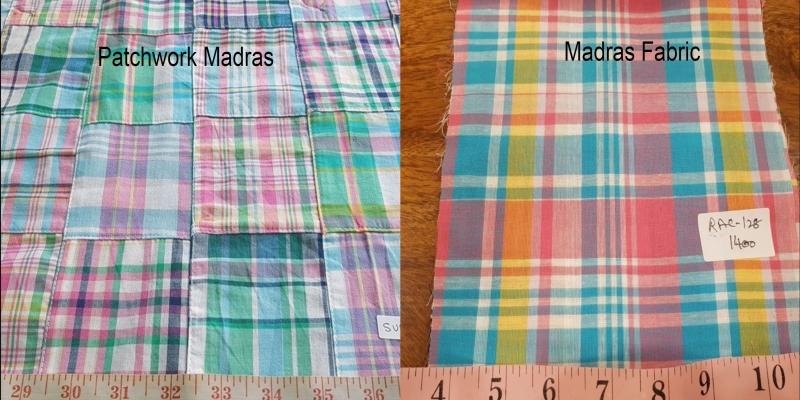 Madras plaid & Patchwork madras fabric