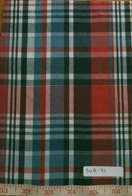 Madras Plaid - the fabric with many uses