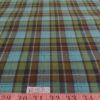 Madras Plaid Fabric or madras cloth, woven in a plaid pattern, for men's shirts, jackets, ties and bowties. Also known as check fabrics.