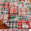 Patchwork Madras or patchwork plaid - a preppy fabric made of plaid fabric of various colors, ideal for preppy children's & men's clothing.