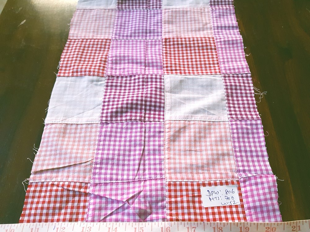Patchwork Check Fabric for sewing men's jackets, coats, ties and bowties, and boy's shorts, shirts, and handmade accessories like handbags, headbands