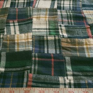 Patch Twill Plaid Fabric for sewing preppy clothing, preppy craft projects, preppy accessories, handmade clothing, madras bedding or children's decor.