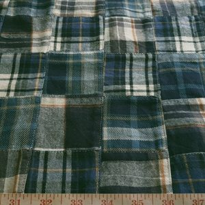 Patchwork Twill Madras Fabric for sewing preppy clothing, preppy craft projects, preppy accessories, handmade clothing, madras bedding or children's decor.
