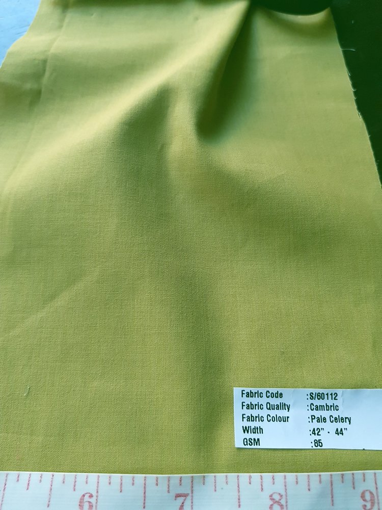 Vegetable Natural Dyed Organic Cambric Cotton Fabric