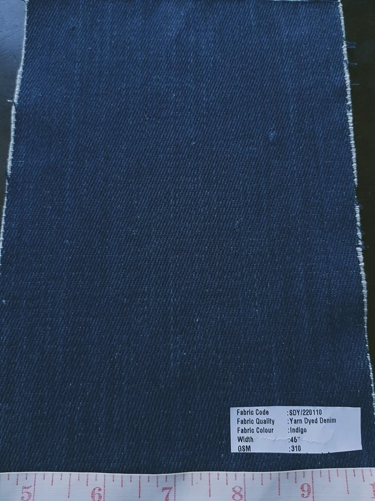 Vegetable Natural Dyed Organic Cotton Denim Fabric dyed from Indigo plant colors, ideal for denim jeans, denim skirts, denim jackets and boys clothing