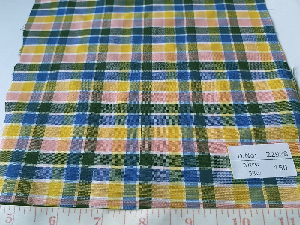 Madras fabric - cotton plaid madras fabric for girl's clothing, smocked clothing, monogramed apparel, handbags, tote bags, headbands & Etsy crafts.