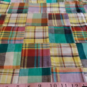 Patchwork Madras, or patchwork plaid fabric for preppy menswear, classic children's clothing & etsy handmade clothing.