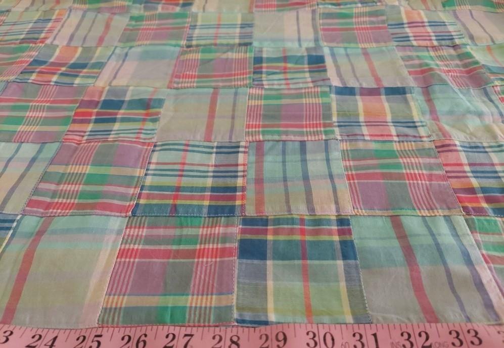 Patchwork Madras - patchwork plaid fabric