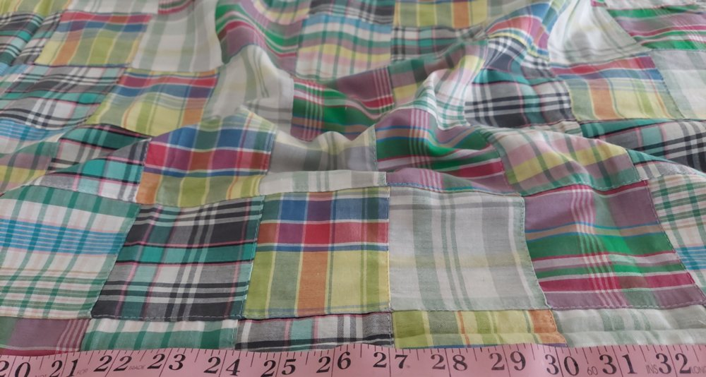 Patchwork madras fabric got preppy menswear and new england style clothing.