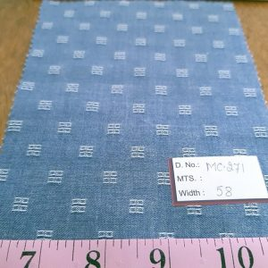 Chambray Fabric in cotton with a denim look, for summer chambray shirts, chambray shorts, ties, bowties, and chambray dresses.