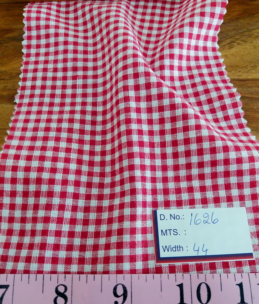 Gingham check fabric for dog shirts, bowties, ties, dog shirts, dresses, skirts, southern gingham clothing, and boy's clothing.