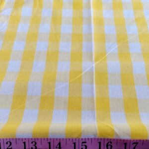 Gingham Plaid fabric or gingham check fabric is a cotton fabric with squares of equal sizes, usually in a combination of white with another color.