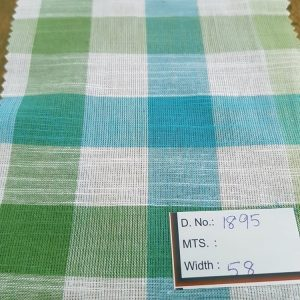 Gingham Fabric or gingham check fabric is a cotton fabric with squares of equal sizes , usually in a combination of white with another color.