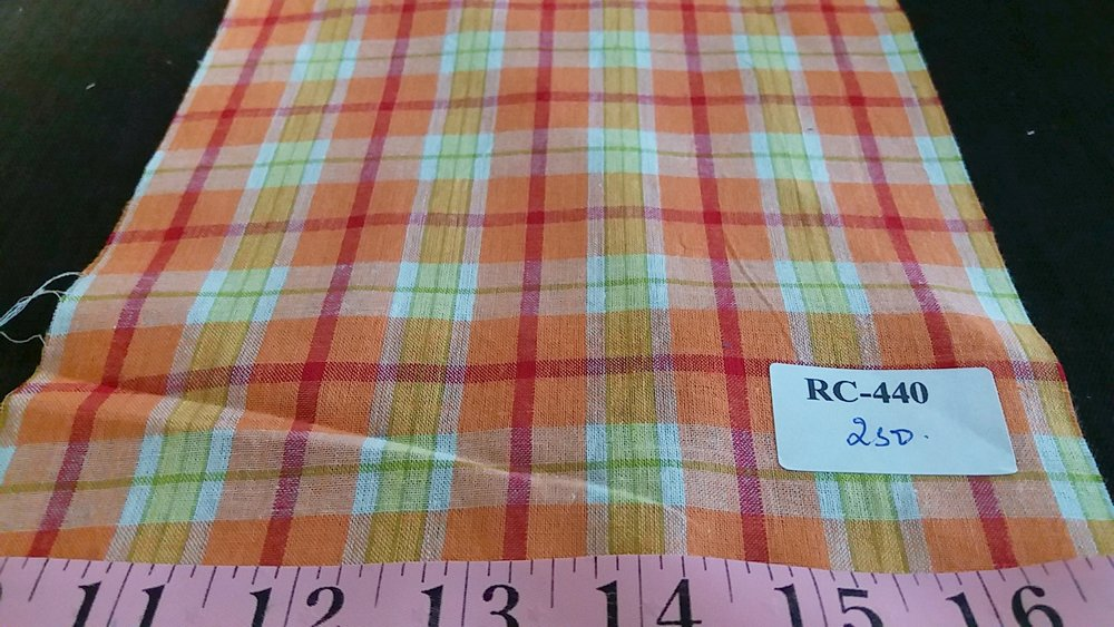 Plaid Fabric - Madras Fabric made of cotton, woven in plain weave for preppy clothing, preppy sewing and crafts & handmade things.