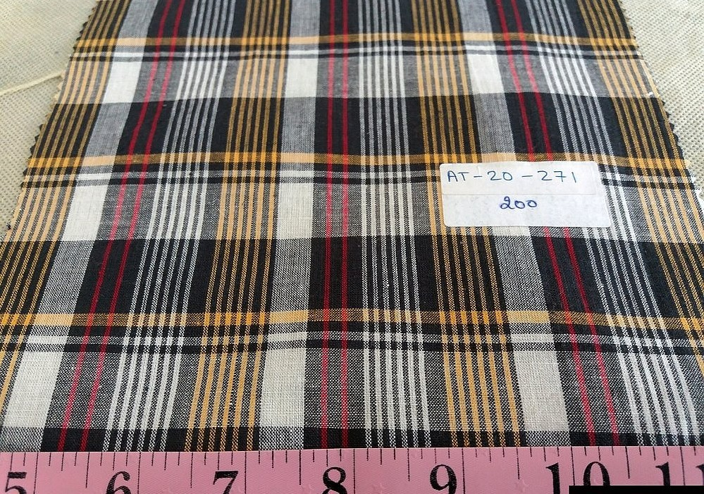 Plaid Fabric made is made mostly of cotton woven in a plaid pattern, and used for plaid shirts, plaid jackets & bowties.Also known as madras plaid.