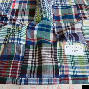 Patchwork Plaid Fabric for vintage menswear, classic children's clothing, sportcoats, pants, shorts and plaid clothing for pets such as dog clothing.