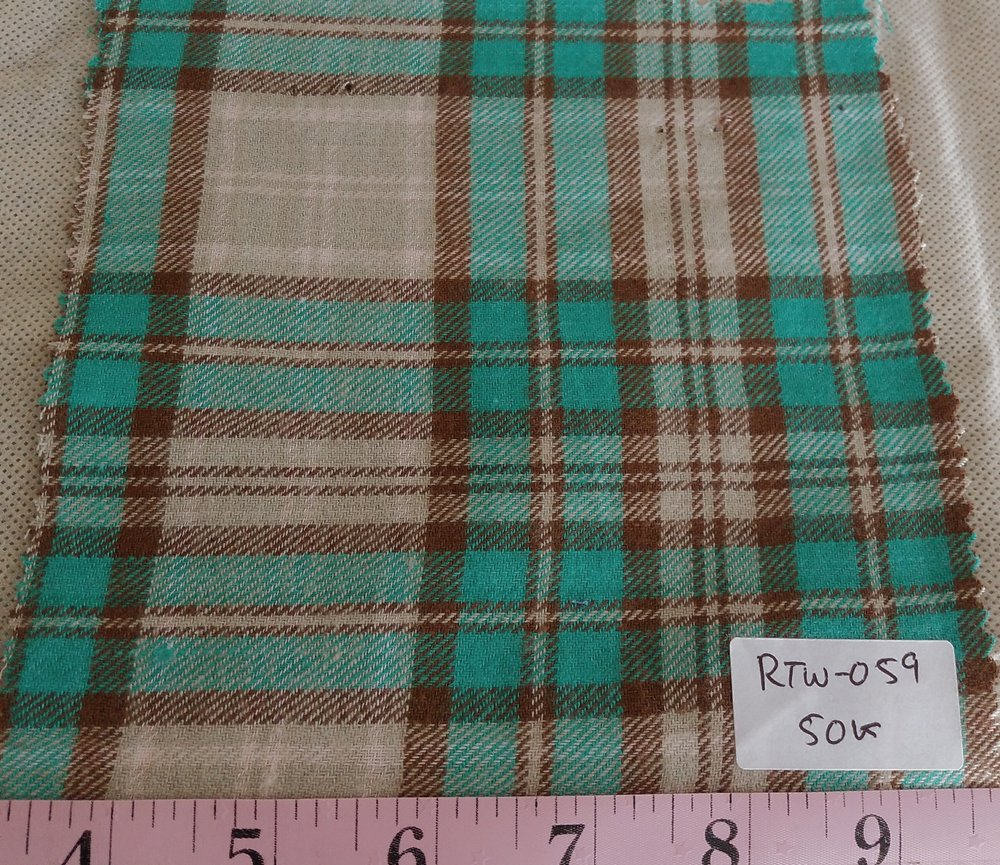 Twill Plaid or Twill madras plaid fabric for men's shirts, outdoor clothing, children's clothing, and dog bandanas and shirts.