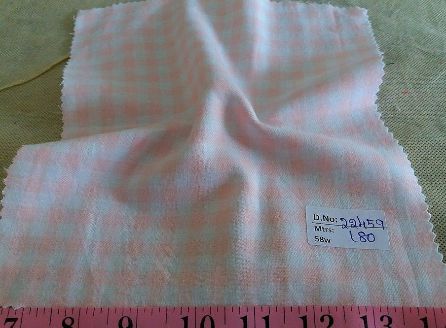 Twill Gingham plaid fabric for men's shirts, classic children's clothing, girl's dresses, bowties, dog bandanas and shirts.