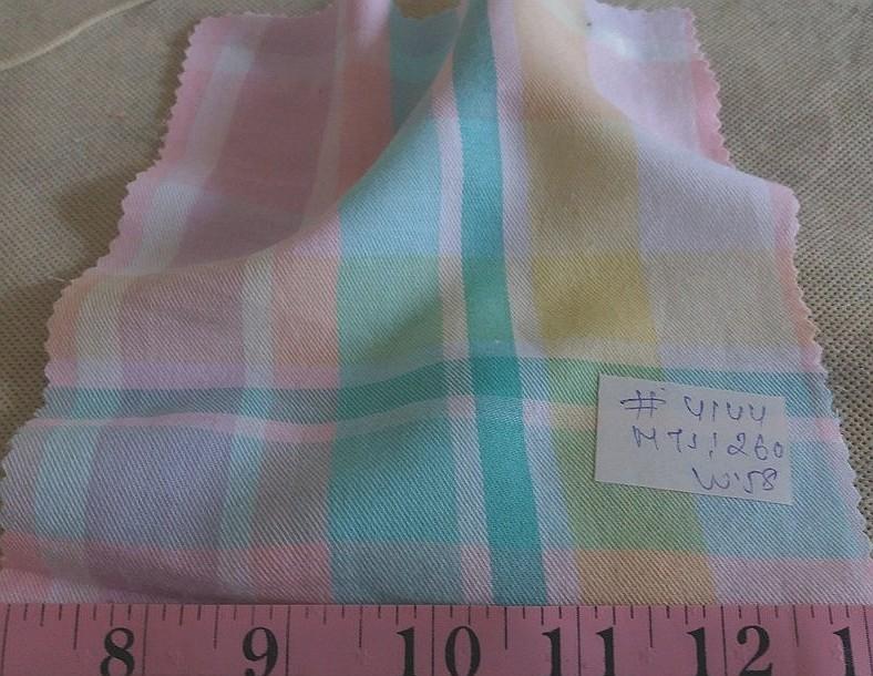 Twill Madras Fabric, twill plaid or flannel plaid for pet clothing, like dog bandanas, dog collars, dog bowties and vintage menswear.