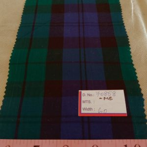 Black watch plaid fabric, in a blackwatch tartan pattern for men's shirts, jackets and sport coats, and classic children's clothing.