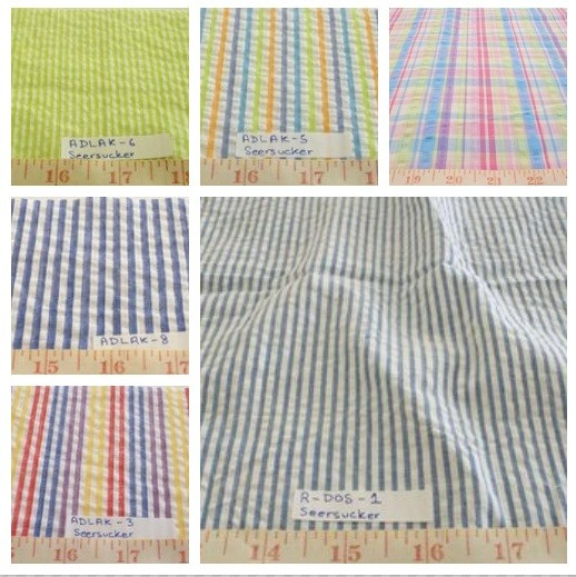 Seersucker Fabric - seersucker stripe fabric for southern clothing, classical children's clothing, vintage menswear, summer casual clothing.