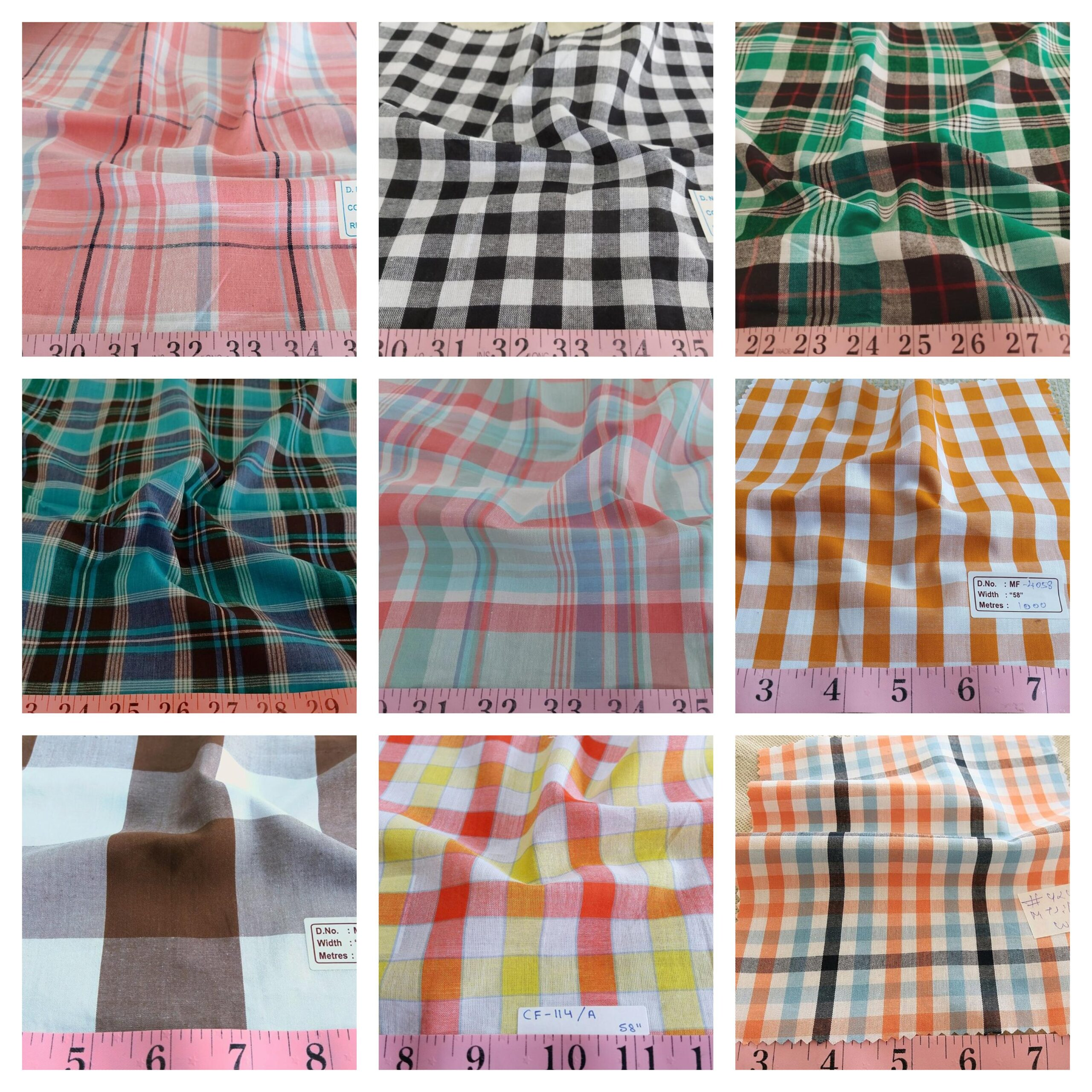 Madras Plaid and Plaid fabrics collection updated at FabricOnlineStore.com, with the latest colors and patterns, for Spring 2021