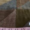 Patchwork Corduroy Tweed Suede Winter Fabric for jackets, coats, caps & hats and dresses.