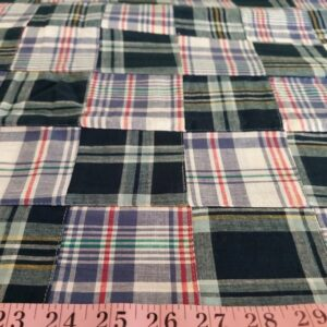 Patchwork Plaid for vintage menswear, custom shirts, classic children's clothing, bowties and ties, and for sewing kids clothing.