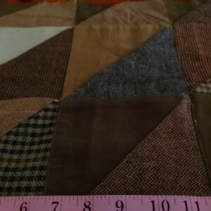 Winter Patchwork Fabric with tweed, herringbone, corduroy & suede, perfect for winter coats, jackets, pants, caps and hats, and dresses.
