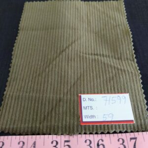 Corduroy fabric has a weave with grooves or lines of same thickness, for use in men's jackets, corduroy pants, winter clothing, dresses & shorts.