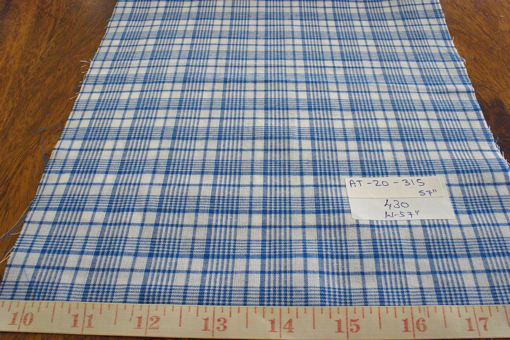 Check Fabric or Plaid fabric, used for men's shirts, vintage clothing, children's classic clothing, bowties and ties.