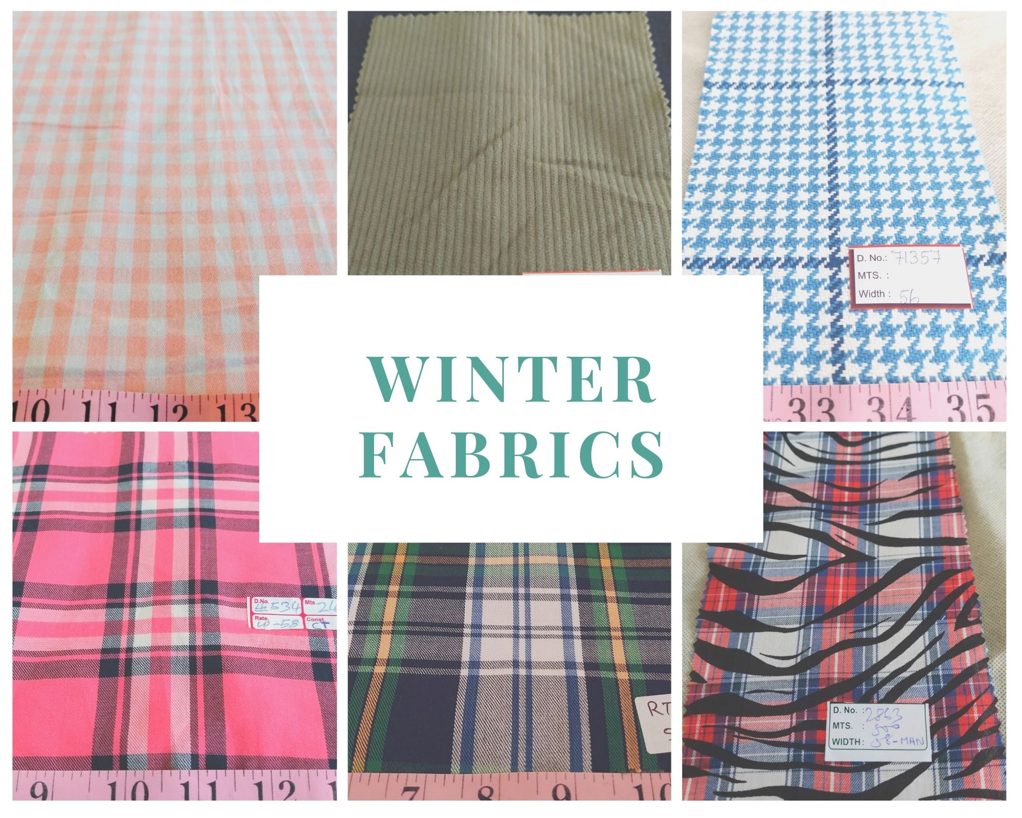 Fall fashion / winter fashion, with winter fabrics like flannel plaid, tartan and flannel madras, for flannel shirts, jackets & coats, and caps.